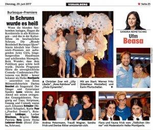 Burlesque Show in Österreich von Blonde Bombshell Burlesque mit den Burlesque Tänzerinnen Rose Rainbow, Dixie Dynamite und Lilly Libelle