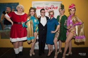 Blonde Bombshell Burlesque Show buchen München Weihnachts Burlesque Show Burlesque Tänzerin München