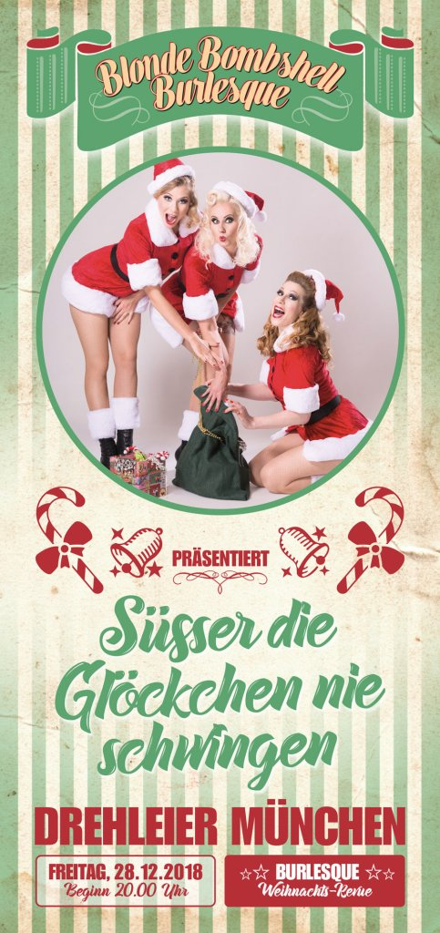 Burlesque Christmas Show Blonde Bombshell München Rose Rainbow