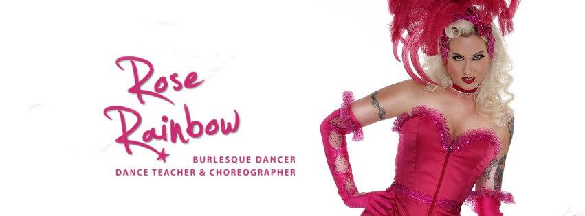 Burlesque Show Tänzerin buchen Blonde Bombshell Burlesque Rose Rainbow aus München