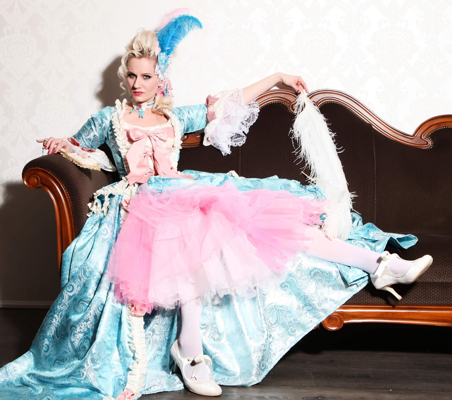 Rose Rainbow Burlesque background image