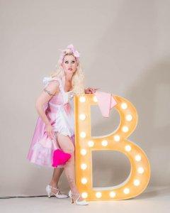 Blonde Bombshell Burleque - Rose Rainbow