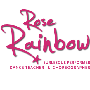 Rose Rainbow Burlesque background image