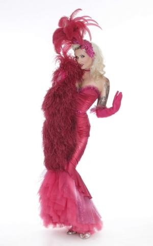 Rose Rainbow Burlesque Tänzerin München